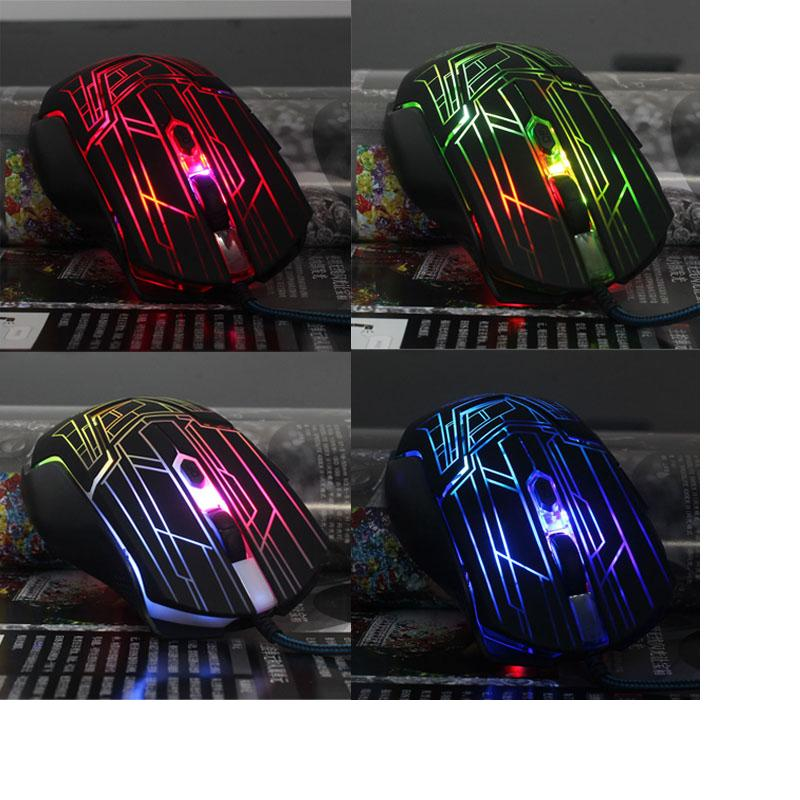 Long-lasting Life 3200 DPI 6 Button LED Optical Wired Mouse For PC Laptop Game for high-end players,gaming professional players