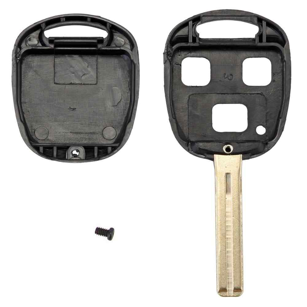 3 knoppen 42mm Remote Key Case Shell Fob voor Lexus ES330 RX330 GX470 LX47 D05
