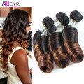 8A Ombre Peruvian Spring Curl Virgin Hair Two Tone Hair Bundles Ombre Peruvian Spiral Curly Virgin Hair Ombre Hair Extension