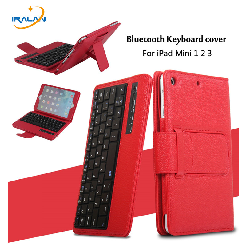 Wireless Bluetooth Keyboard For iPad Mini 1 2 3 7.9 inch Full Body Protective Portable Keyboard Cover Case with Stand Smart+Pen for ipad air 1 case with keyboard wireless bluetooth keyboard abs plastic stand protective bluetooth keyboard for ipad 5