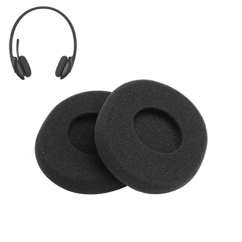 Earpads Ear Pads Replacement Cushions for Logitech H800 Headphones 75x65mm