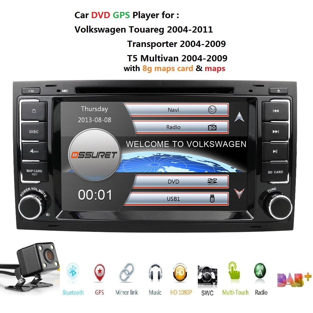 Car Monitor DVD Multimedia Player fit FOR Volkswagen Touareg T5 Multivan car DVD player GPS navigation Radio Stereo TV SWC BT image