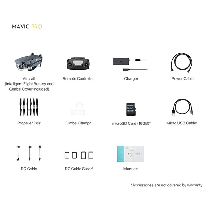 Official Authorized Distributer Original DJI Mavic Pro Drone Set 1080P Camera 4K Video 4