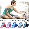 Спортом Бег Чехол для Samsung Galaxy S5 для HTC один М7 Sony Xperia Z1 L39h Водонепроницаемый Телефон Мешки группа