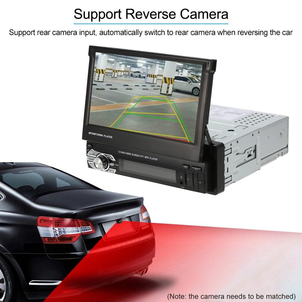 Universal 7inch Retractable Autoradio Automagnitola 1 Din Car Radio Stereo Multimedia MP5 Player Bluetooth FM Remote Controller