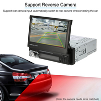 Universal 7inch Retractable One Din MP5 Player Car Stereo Radio Player Multimedia Entertainment With Bluetooth FM