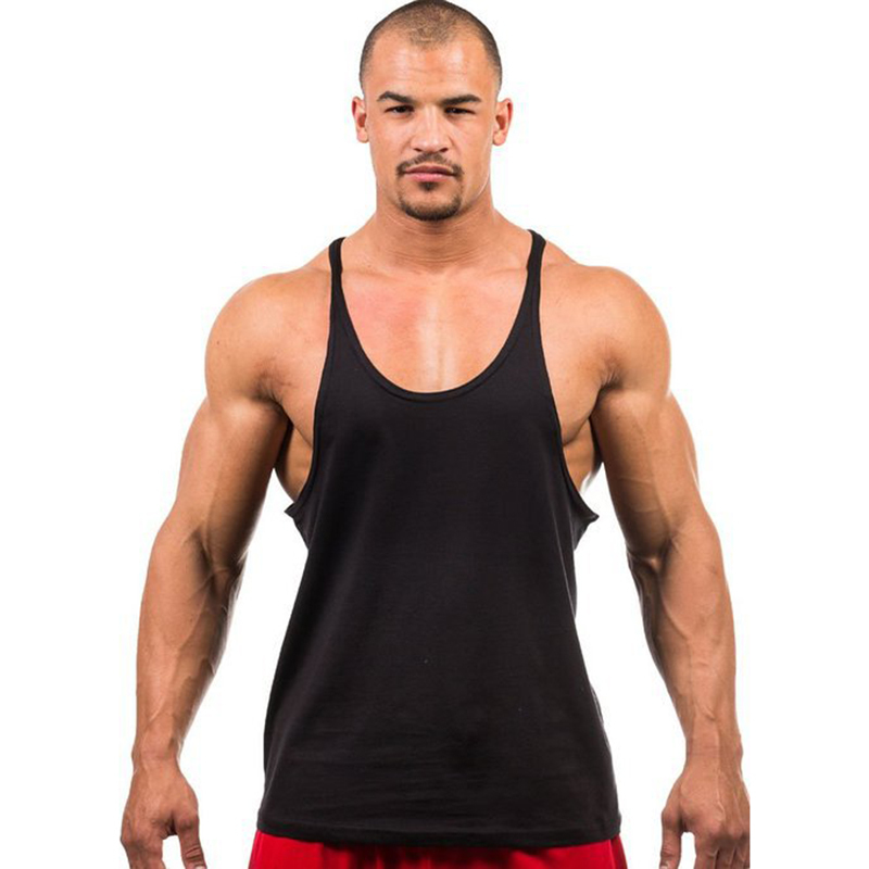 7 Colors Men   Tank     Top   Men Stringer   Tank     Top   Fitness Singlet Sleeveless Shirt Workout Man Undershirt Clothing New