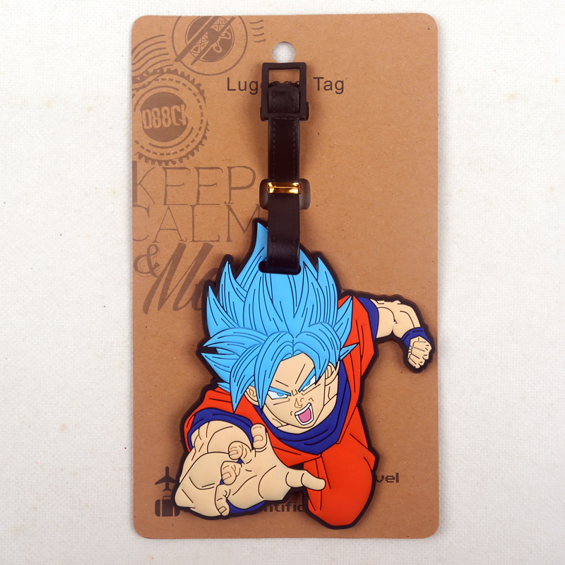 Dragon Ball Z Goku Leather Luggage Tag Travel ID Label For Baggage Suitcase