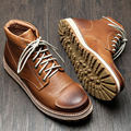 Retro Mens Genuine Leather Round Toe Lace Up Work Safety Martin Boots Boys Winter High-top Boots Casual Oxfords