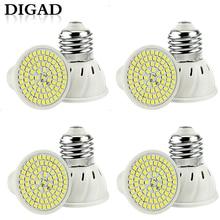 цена на DIGAD 4pcs/set E27 LED Bulb GU10 LED Lamp 220V SMD 2835 MR16 Spotlight 48 60 80LEDs Warm White Cold White Lights for Home Lamp