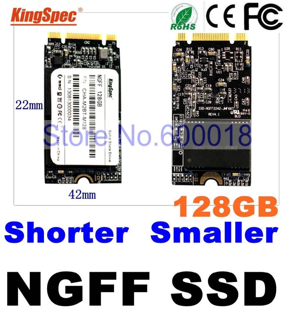 kingspec 42*22mm slim NGFF hd ssd 32GB 64GB 128GB Pcie msata