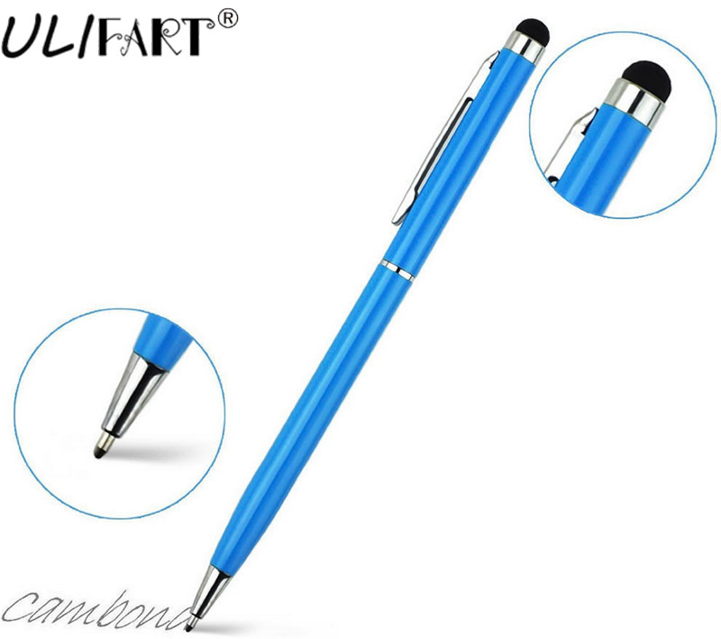ULIFART 2 in 1 Slim Universal Tablets Touch Stylus Pen Drawing Ballpoint Pen For Ipad Iphone8 x Samsung цены онлайн
