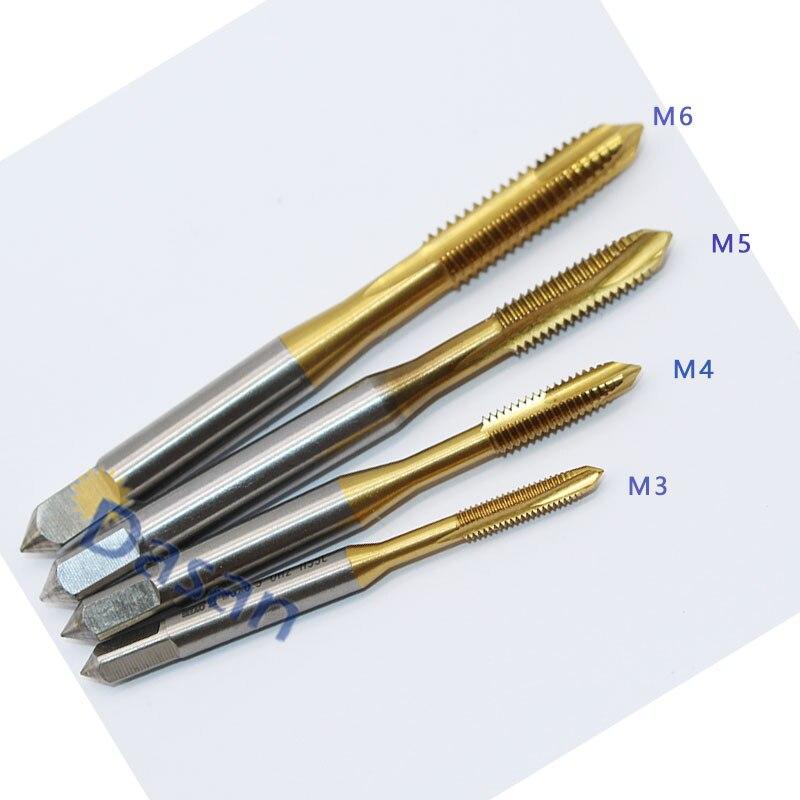 10PCS M3 M4 M5 M6 Tap HSSE OH2 Cobalt Metric Machine Screw Taps Right Hand Thread