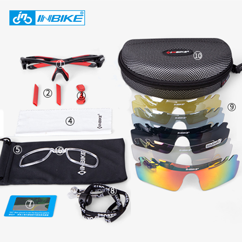 2322d0ccd59 polarized cycling glasses 5 lens clear bike glasses eyewear UV Proof sport  sunglasses men women oculos gafas ciclismo -in Cycling Eyewear from Sports  ...