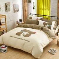 kitty Cat Printed Bedding Sets 4pcs Bedlinen Twin Full King Queen Dovet Cover Bedsheet Pillowcase roupa de cama kids bedding set