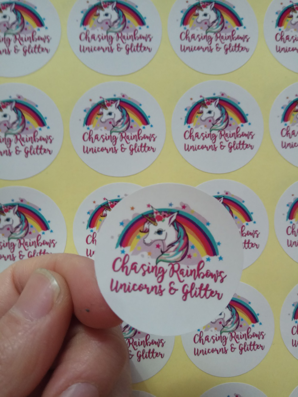 Image 3 - 65mm   Custom logo printing Sticker Label-in Stationery Stickers from Office & School Supplies