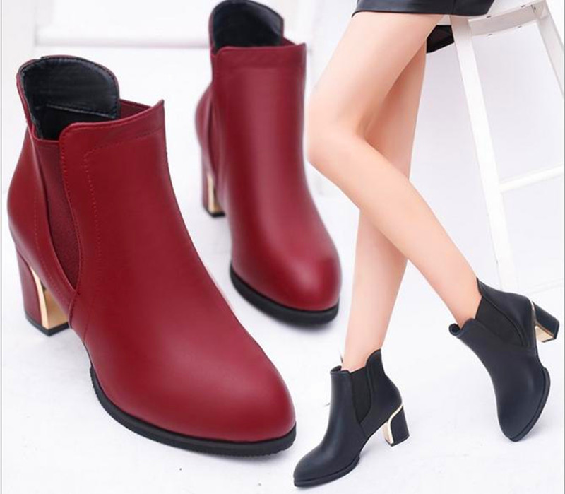 10..2016 winter women boots Martin boots Australia boots women fashion casual A thick bottom Ankle Boots zapatos mujer