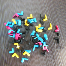 80 pcs BK/C/M/Y 4 colors Rubber plug for Refill ink cartridges plugs air hole rubber tools for brother/canon/epson refill tool