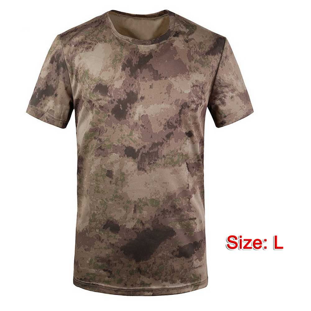 56079759 New Camouflage T-shirt Men Breathable Army Tactical Combat T Shirt Military  Dry Camo Camp Tees