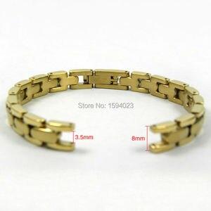 Image 3 - 8ミリメートルT003209時計バンド時計部品女性ストリップ固体黄金間ゴールドシルバーステンレススチールブレスレットストラップ