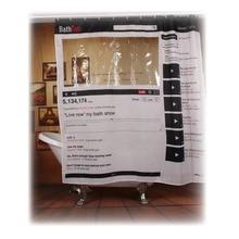 Facebook Youtube Webpage Pattern Waterproof Polyester Shower Curtain