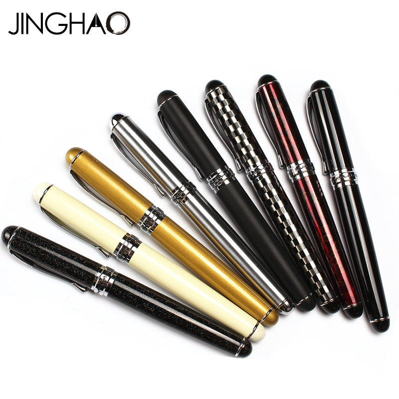 JINGHAO High Quality Iraurita Fountain Pen Full Metal ink Pens Office School Supplies Student Writing Stationery For Gift