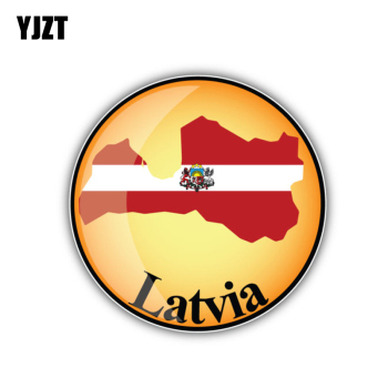 YJZT 10.6CM*10.6CM Funny Latvia Map Car Styling Window Car Sticker Accessories 6-1920 image
