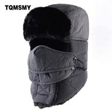 TQMSMY Russian masks cap Women's winter hats for men bomber