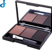 2016 Women Ladies Makeup Eyebrow Power Waterproof Long Lasting 3 Colors/Set Eye Brow Powder With Small Brush 2HM20