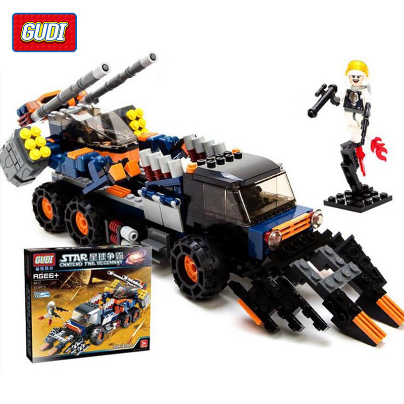 GUDI Blocks All-terrain Vehicle Strike The Planet Hegemony Intellectual Building Blocks Assembled Toys