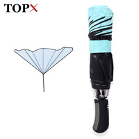 Free Shipping Reverse Folding Double Layer Inverted Chuva Umbrella Self Stand Inside Out Rain Protection C