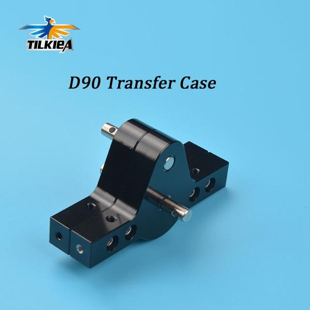 Black CNC  Aluminum Transfer Case For D90 SCX10 RC4WD RC Crawlers Trucks D90  Components