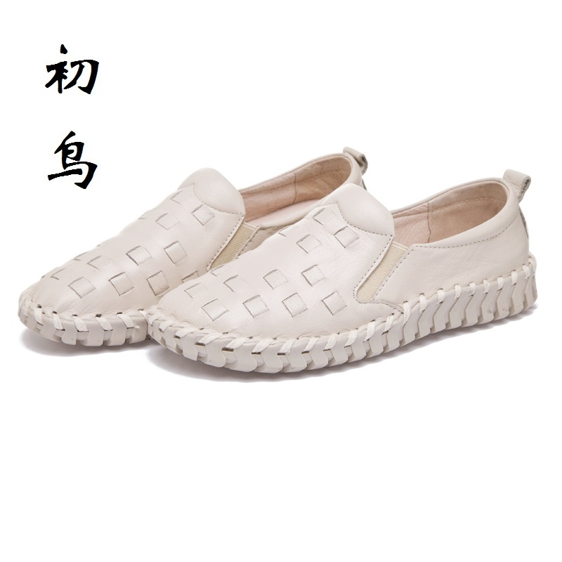 2017 Fashion Genuine Leather White Loafers Women Flats Ladies Creepers Platform Shoes Woman Espadrilles Chaussure Femme цены онлайн