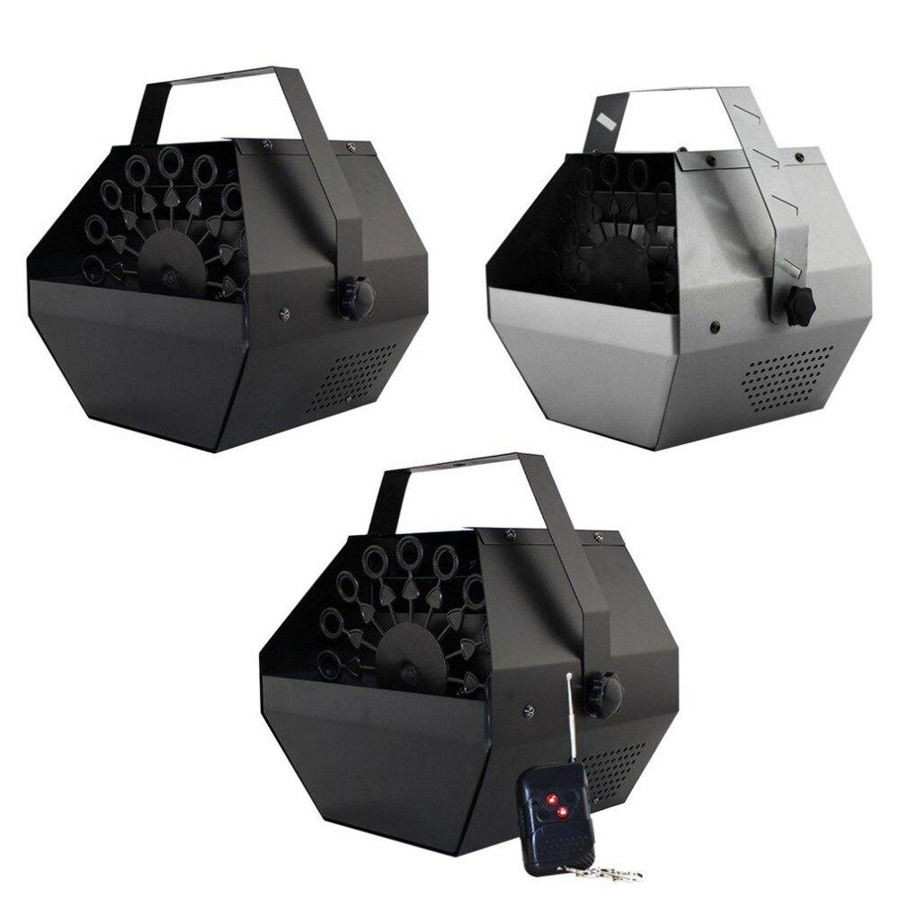 Mini Portable Automatique Machine À Bulles avec Télécommande pour Spectacle De Fête Scène Bulle Fabricant Ventilateur De Mariage Décor Enfant Cadeau De Noël
