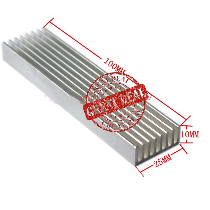 Free Ship Brand New 50PCS Custom High Quality Aluminum Heatsink 100*25*10MM  Heat Conduction Strip
