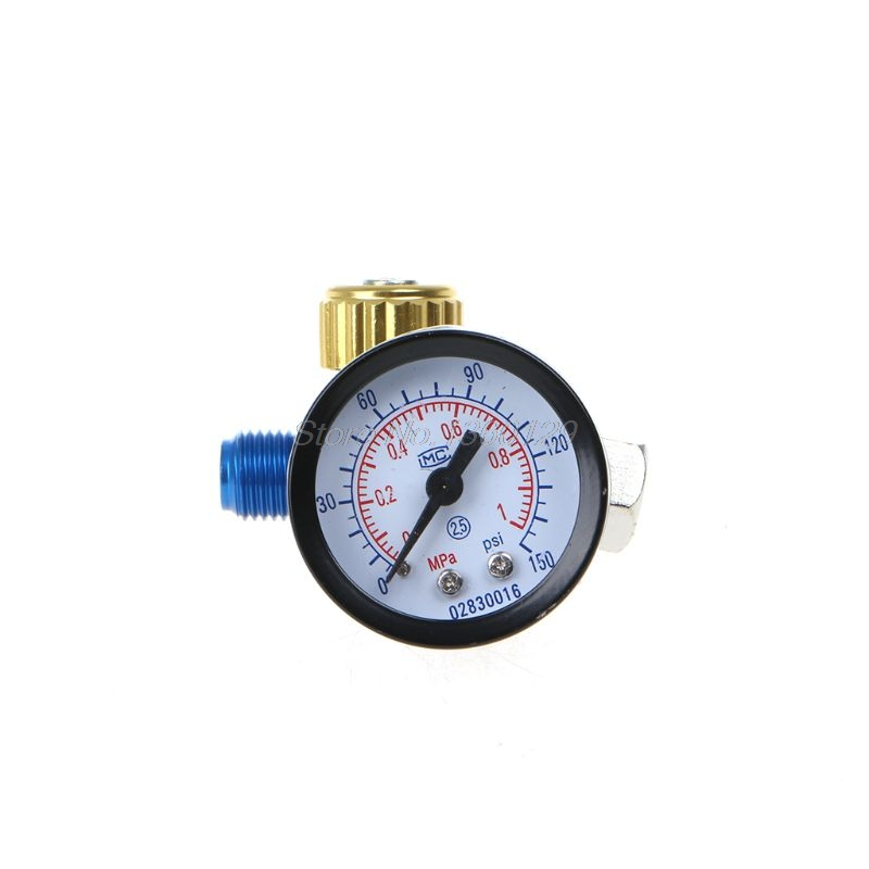 1/4'' BSP HVLP Spray Gun Air Regulator Tool Pressure Gauge Diaphragm Control  S02 Wholesale&DropShip