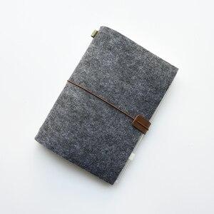 Image 2 - Maotu diario de bala de tela de fieltro Vintage, agenda para viajeros, planificador de bocetos, regalo creativo hecho a mano