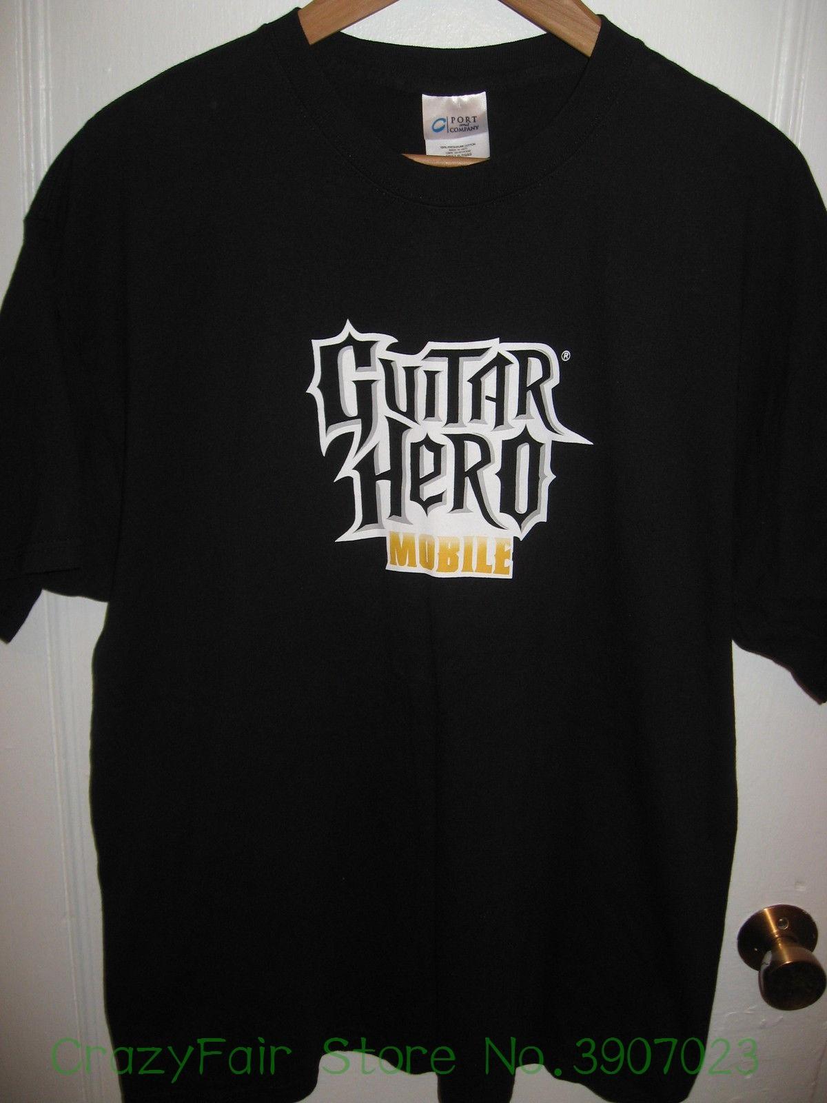 Guitar Hero Mobile Device Video Game Gamer Thumb Rehab Musician Tech T Shirt Xl Mens Sho ...