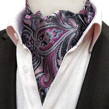 Дизайнерская мужская официальная одежда в британском стиле с вырезом для торжественных случаев роскошный Аскот с принтом Пейсли