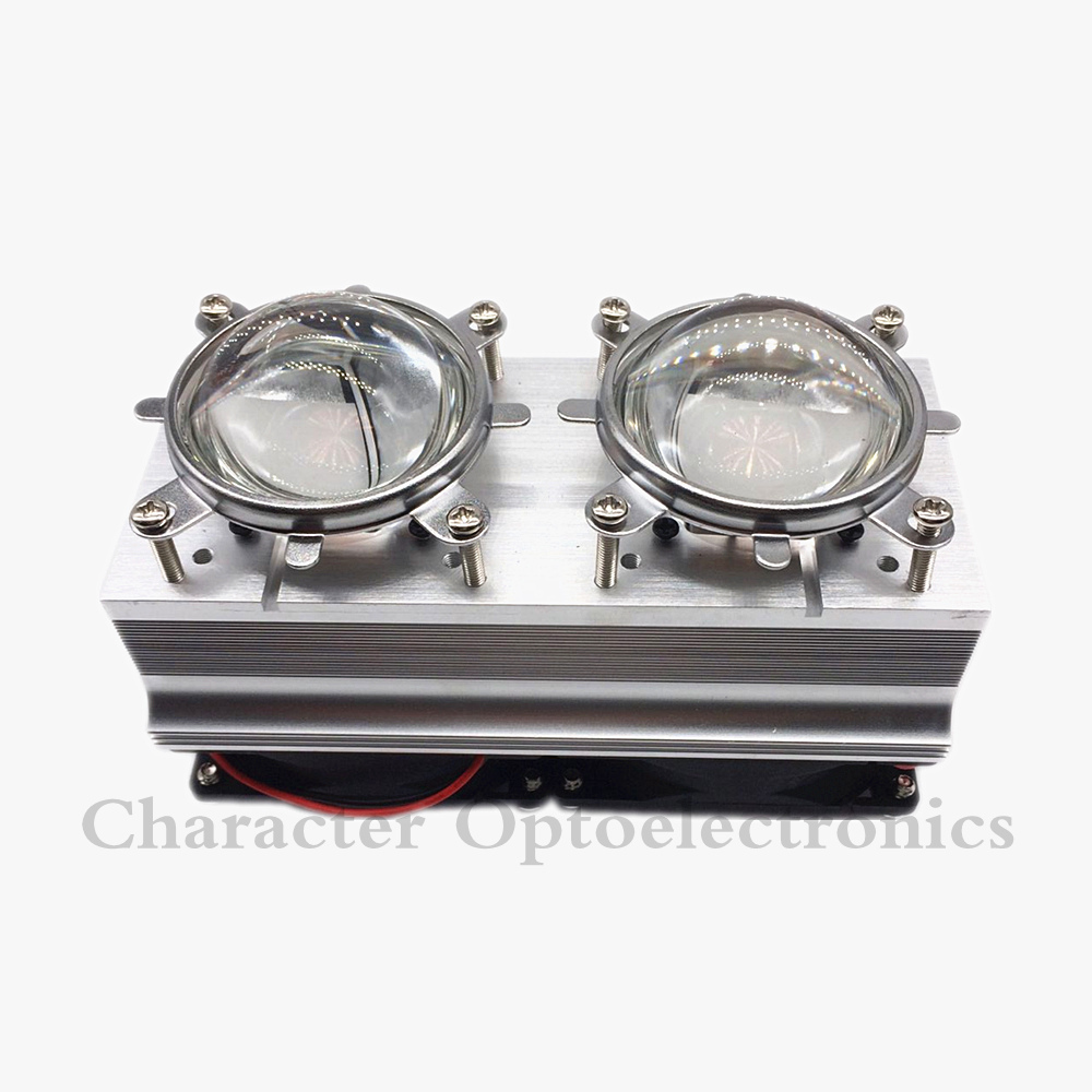 купить 100W 200W High Power LED Heatsink cooling with fans 57mm /44mm / Lens +Reflector Bracket недорого