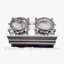 цена на 1PCS 100W 200W High Power LED Heatsink cooling with fans 57mm /44mm / Lens +Reflector Bracket