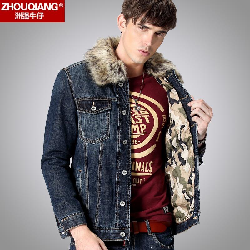 Popular Denim Jacket Fur Collar Men-Buy Cheap Denim Jacket Fur ...
