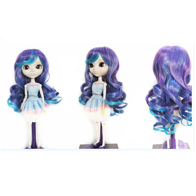 New Style Attractive Design Curly Hair BJD Wig Accessories for Dolls,High-temperature Wire Wavy Hair for Dolls
