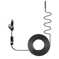 NEW Safurance 3 In 1 5mm 6 LED Waterproof Endoscope USB Micro USB Type C Borescope