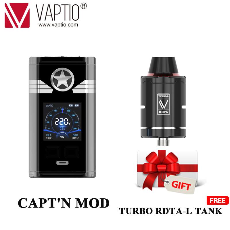 gift Polar 220W Box mod Vaptio CAPT N vape Mod for Vape Vapores Electronic Cigarettes Mod