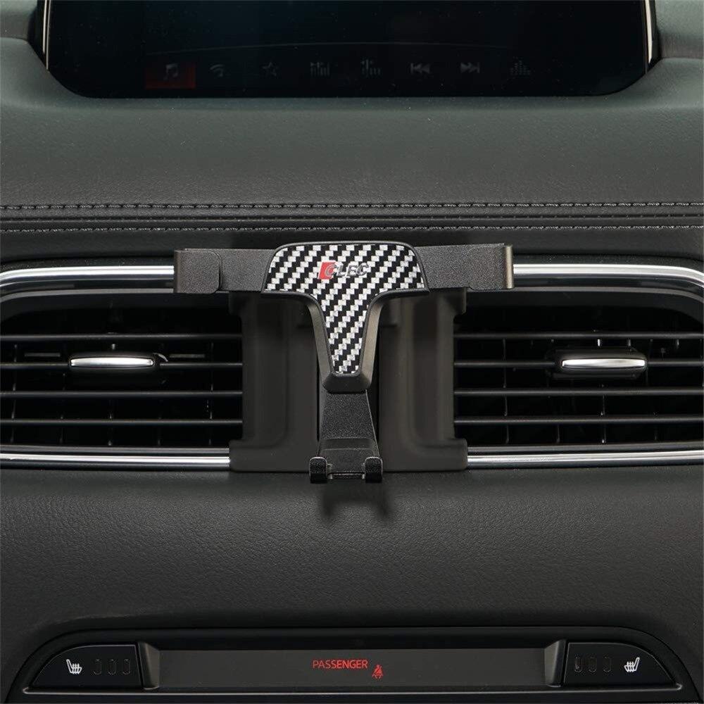 Sostenedor del teléfono del coche para Mazda CX-5 2017, 2018/4,7/5 pulgadas para iPhone 6 6 s 7 8 de ventilación de aire titular del teléfono móvil soporte Clip para CX-5 2019