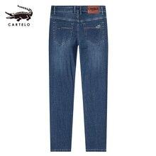 Geselecteerd mannen Licht Skinny Jeans Mid Taille Straight Slim Fit Jeans voor Mannen Man Zwart met Zijzakken 2121 cartelo 2019 Nieuwe