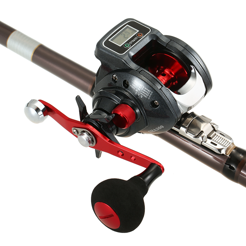 6 3 1 13 1BB Fishing Reel Left Right Hand Low Profile Linecounter Fishing Tackle with