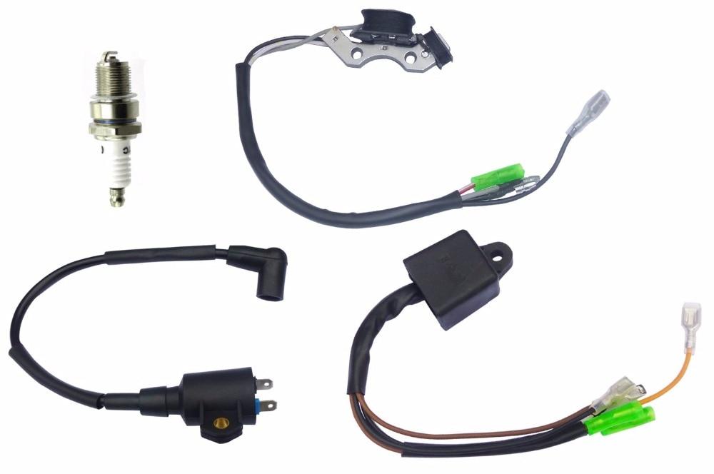 Livraison gratuite pack haute pression bobine d'allumage allumeur allumeur 950 ET950 650 ET650 bougie d'allumage moteur à essence générateur d'essence