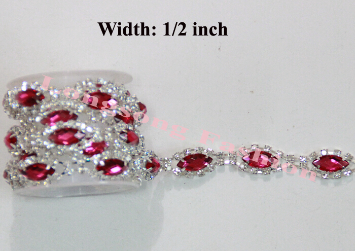 Free Shipping  5 yards Acrylic stone and Rhinestone Trim, Rhinestone - Arts, Crafts and Sewing